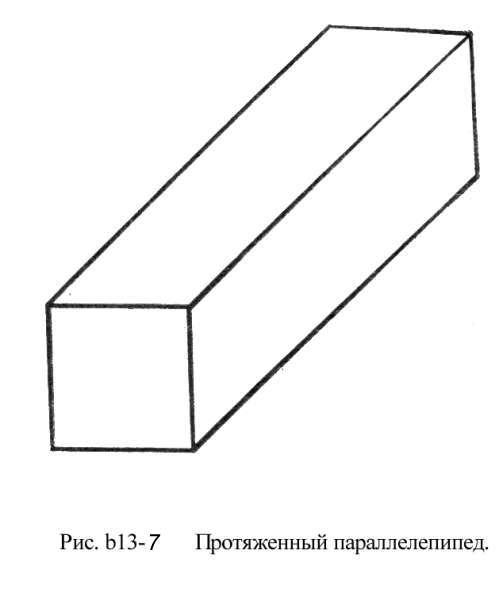Задняя квадратная грань