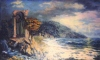 Ruins at the sea, canvas, oil, 60 x 100 c.